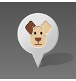 Dog pin map icon Animal head