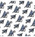 doodle industrial wheelbarrow transport equipment vector image
