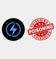 electricity icon and scratched poisoning vector image vector image