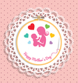 Embroidery hoop with Needlework for mothers day vector image vector image