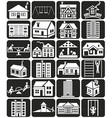facade houses and playground vector image
