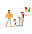 family walking at the park vector image vector image