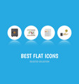 flat icon gain set of strongbox hand with coin vector image