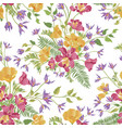 floral ornamental seamless pattern flower garden vector image vector image
