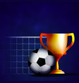 football cup mache winner vector image