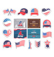 fourth july happy independence day in america vector image