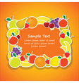 frame from fruits vector image vector image