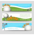 Golf club banners template vector image vector image