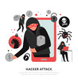 hacker attack vector image