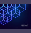 hexagonal neon shapes abstract technology vector image