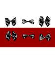 holiday satin gift bow knot ribbon black friday vector image