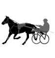 Horse and jockey harness racing silhouette