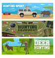 hunter animal and hunting equipment vector image vector image