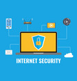 internet security concept data protection vector image vector image