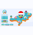 isometric map netherlands country football vector image