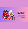 japan travel horizontal banner vector image vector image