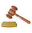 judge wood hammer icon cartoon style vector image vector image