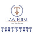 law firm and column set vector image vector image