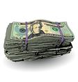 Money Bundle 20 vector image vector image