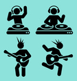 music pictograms vector image vector image