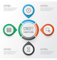 network icons set collection of calendar vector image