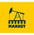 Oil pump with arrows Market under pressure vector image