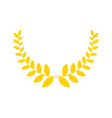 olive branch is golden wreath symbol of victory vector image vector image