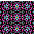 pattern rosette black vector image