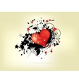 picture of heart with floral ornamental vector image