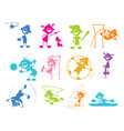 playing cartoon children vector image vector image