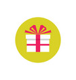 present gift - concept colored icon in flat graph vector image vector image