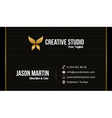 Prestige business card vector image vector image