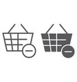 remove from bucket line and glyph icon shopping vector image vector image