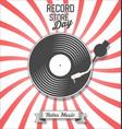 retro vinyl record store day background vector image vector image