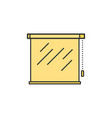 roller shutters blinds jalousie thin line icon vector image