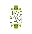 Saint Patricks Day Flat Style Typographical vector image