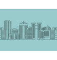 Seamless horizontal ornament City skyscrapers vector image