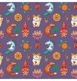 Seamless pattern with Good Luck charms vector image vector image