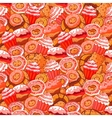 seamless pattern with hand drawn pastries vector image