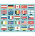 Set of flags of different countries vector image vector image