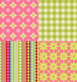 Set of Scrapbook Backgrounds vector image