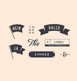 set of vintage graphic design elements linear vector image