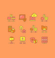 set simple line icons vpn vector image vector image