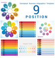 set templates infographics business conceptual vector image
