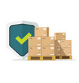shipping insurance for freight cargo delivery and vector image