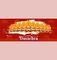shubh happy dussehra header or banner design vector image vector image