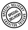 special delivery stamp vector image vector image