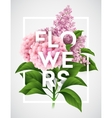 stylish poster with beautiful flowers vector image vector image