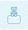 Teddy bear frame vector image