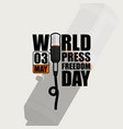 typography for world press freedom day vector image vector image